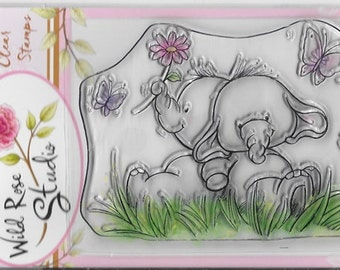 Wild Rose Studio Clear Stamp -- NEW -- Bella with Friend -- (#2243)