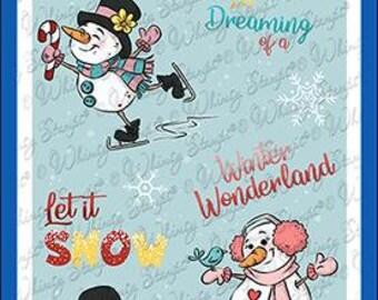 Whimsy Stamps --     Winter Wonderland Snowmen -- NEW  -- (#3609)