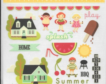 PinkPaislee  --  Press On  --  Summer Rub On's  -- NEW -- Self Adhesive Rub Ons  --    (#1757)