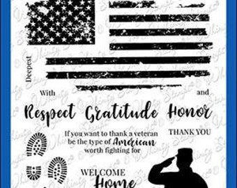 Whimsy Stamps --  Military Heroes  -- NEW  -- (#3589)