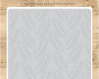 Echo Park Embossing Folder  --  New  -- Pine Boughs  --  (#4083)