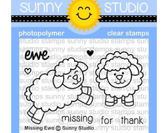 Sunny Studio -- Missing Ewe Stamps -- NEW -- (#3148)