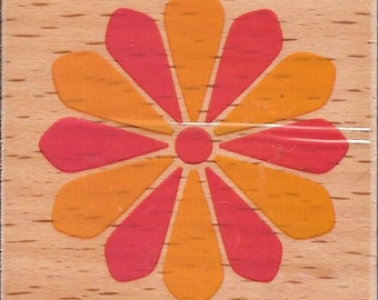 Flower Stamp -- NEW -- Wood Mounted Rubber Stamp -- Studio G Brand -- (#1465)