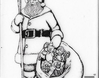 Deep Red Cling Stamps --   Old Saint Nick    -- NEW -- (#3403)