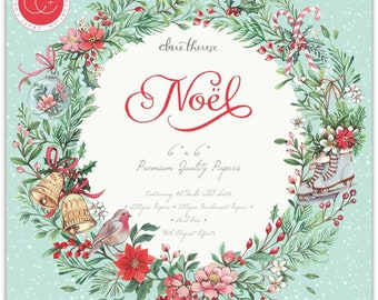 6 x 6 Paper Pad ~ Noel ~ Double sided  - NEW (#3976)