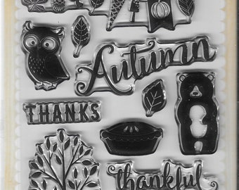 Echo Park Cling Stamps --  Feeling Thankful  -- NEW -- (#3331)