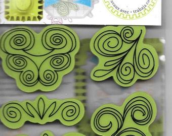 Rubber Stamp   --  NEW  -- Doodle Swirl Cling Stamp set --  Inkadinkado Brand  --  (#1675)