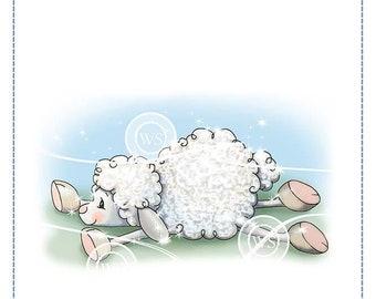 Whimsy Stamps --  Lamb Slides -- NEW -- (#3124)