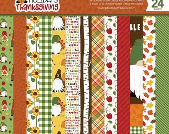 6 x 6 Paper Pad ~ Gnome for Thanksgiving ~ Double sided NEW (#3782)