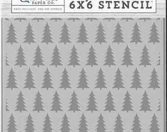 Echo Park Designer Stencil -- New -- Winter Pines  -- (#3349)