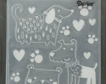 Darice Embossing Folder  --  New  --  Dogs  --  (#3901)