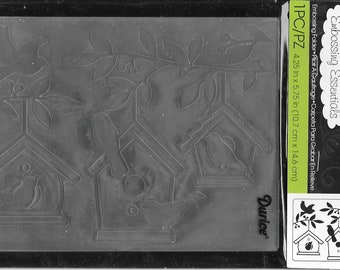 Darice Embossing Folder -- New -- Birdhouses in Tree -- (#3056)