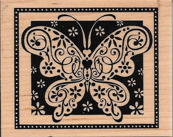 Butterfly Stamp -- NEW -- Wood Mounted Rubber Stamp --   (#2965)