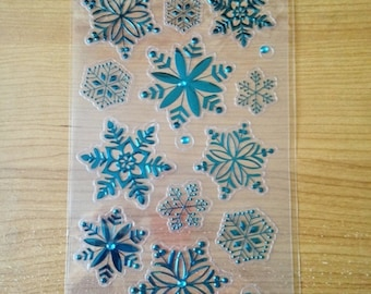 Festive Foil Flakes - NEW (#1941) -  Christmas Snowflakes Winter