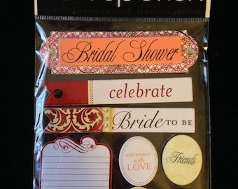 Me & My Big Ideas Brand -- Dimensional Embellishments  --  Bridal Shower  --  NEW  (#1633)