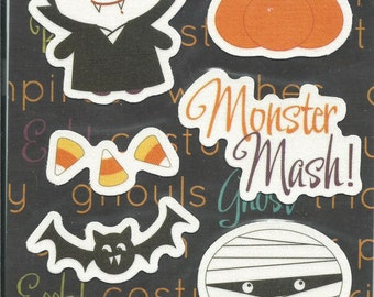 Imaginisce Brand --  Halloween Collection Canvas Stickers  -- NEW --  Halloween Stickers  --    (#602)