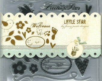Fancy Pants Designs  Clear Stamp Set --  NEW  -- Little Star  --      (#615)
