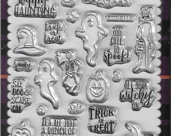 Echo Park Cling Stamps -- Happy Haunting -- NEW -- (#3336)
