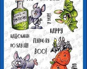 Whimsy Stamps -- Going Batty  -- NEW  -- (#3213)
