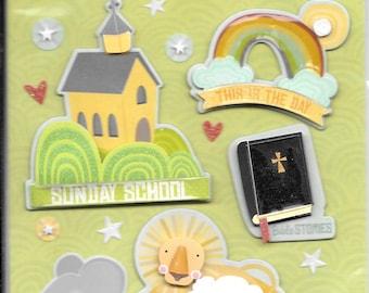 K & Company LLO  -- Sunday School --  NEW --  dimensional stickers  (#3003)