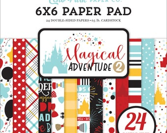 6 x 6 Paper Pad ~ Magical Adventure 2 ~ Double sided NEW (#3587)