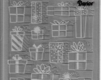 Darice Embossing Folder -- New -- Presents -- (#3108)