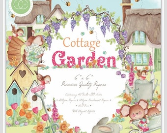 6 x 6 Paper Pad ~  Cottage Garden --   Double sided  - NEW (#3504)