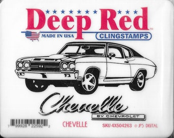 Deep Red Cling Stamps --  Chevelle  -- NEW -- (#3454)