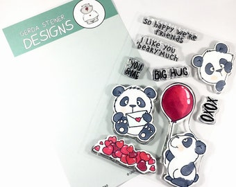 Gerda Steiner Designs --  Lovely Pandas  -- NEW  -- (#3996)