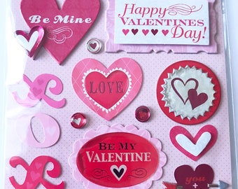 K & Company LLO  -- Valentine's Day --  NEW --  dimensional stickers  (#3067)