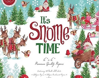 6 x 6 Paper Pad ~ It's Snome Time ~ Double sided  - NEW (#3502)