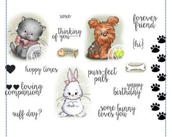Whimsy Stamps -- Critter Cuties -- NEW  -- (#2110)