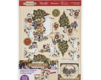 Hunkydory  -  Snowfall Cottage - NEW - (#3314) Christmas Card Making Kit