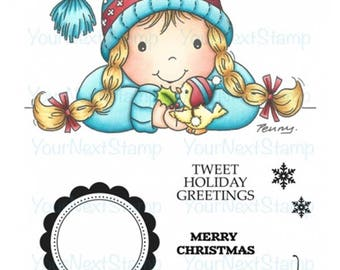Your Next Stamp -- Tweet Holiday Greetings Gretchen -- NEW  -- (#2599)
