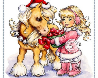 Whimsy Stamps --  Christmas Pony  -- NEW  -- (#2356)