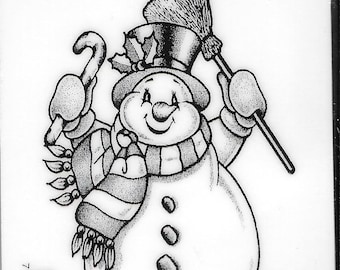 Deep Red Cling Stamps --  Frosty the Snowman -- NEW -- (#2491)