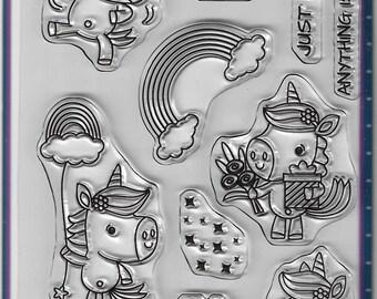 Your Next Stamp -- Unicorns Rock -- NEW -- (#3123)