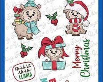 Whimsy Stamps --   Fa La La Llama    -- NEW  -- (#3615)