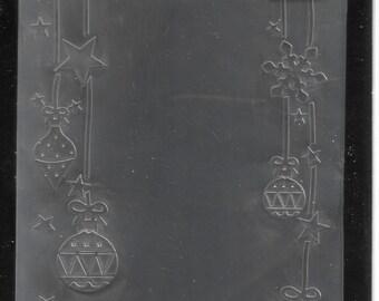 Darice Embossing Folder  --  New  -- Ornaments Hung  --  (#3096)