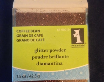 Inkadinkado Glitter  --   Coffee Bean   --   (NEW)   --   1.5 oz    --   Brown Glitter  --   (#511)