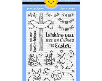 Sunny Studios --  Easter Wishes  -- NEW  -- (#3153)