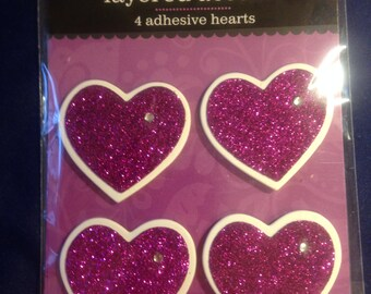 Colorbok --  Glitter Hearts  --   NEW  --  Purple   --   (#996)