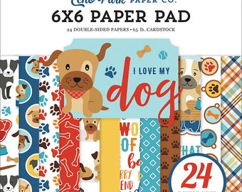 6 x 6 Paper Pad ~ I Love My Dog ~ Double sided NEW (#3583)