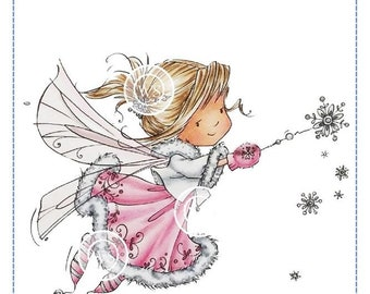 Whimsy Stamps --  Snowflake Wishes Fairy  -- NEW  -- (#2900)