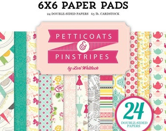 6 x 6 Paper Pad ~ Petticoats ~ Double sided NEW (#2559)