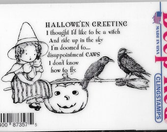 Deep Red Cling Stamps --      Little Witch    -- NEW -- (#3849)