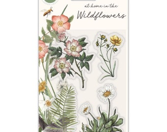 Craft Consortium --  At Home In The Wildflowers - Flora stamp set - NEW - (#3981)