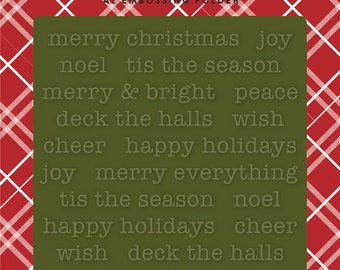 Carta Bella Embossing Folder  --  New  -- Merry Christmas  --  (#4086)