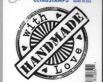 Deep Red Cling Stamps --  Handmade with Love -- NEW -- (#2784)