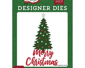 Echo Park -  Merry Christmas Tree Die Set   -  NEW  (#3944)